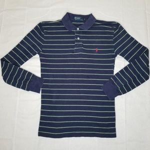 Vintage Long Sleeve Blue & Green Ralph Lauren Polo